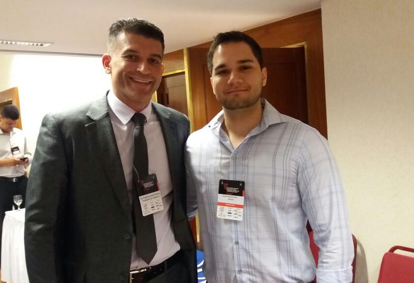 Dr Frederico Araújo Oliveira, Presidente da SBACV-GO, e Hector Barone Filho, Diretor Técnico da Barone