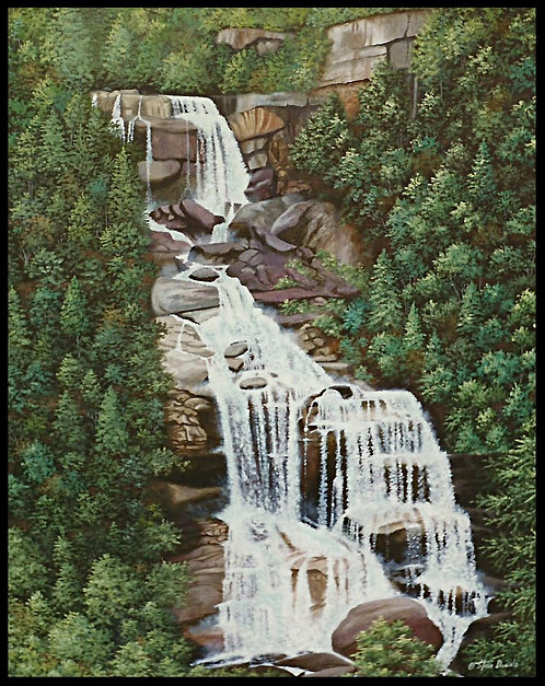 Whitewater Falls Print, Whitewater Falls is the highest waterfall east of the Rockies