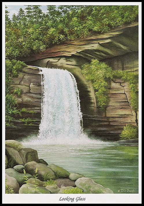 Looking Glass Waterfall Art Print
