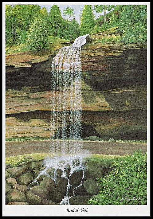 Bridal Veil Waterfall Art Print: Bridal Veil waterfall, North Carolina, Waterfall Prints, Art