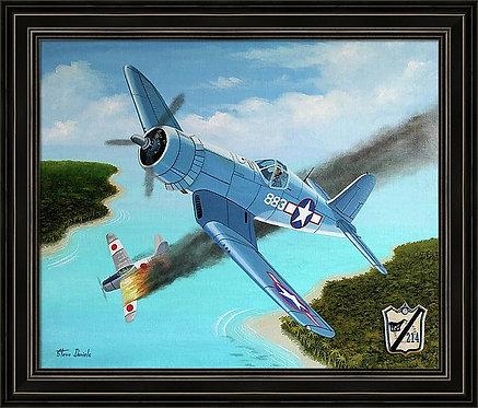 Pappy Boyington's 25th Kill Aviation Art Print