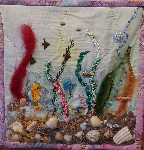 Let's Play In The Sea Art Quilt