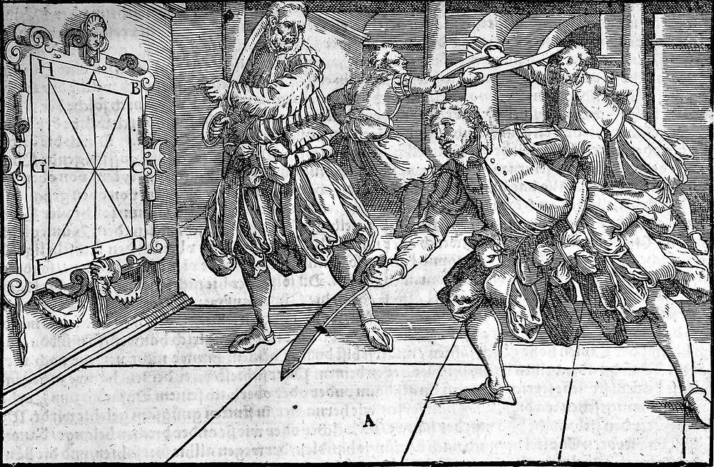 Joachim Meyer lehrt ein Schüler das Hauen