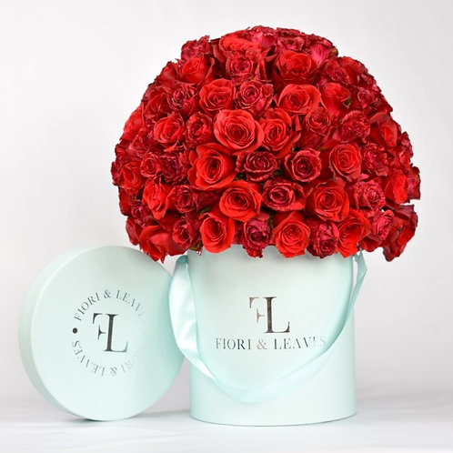 Large Full Dome -  Red Roses