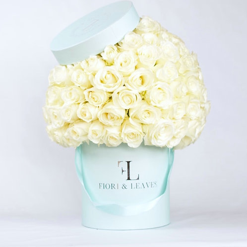 Large Full Dome -  White Roses