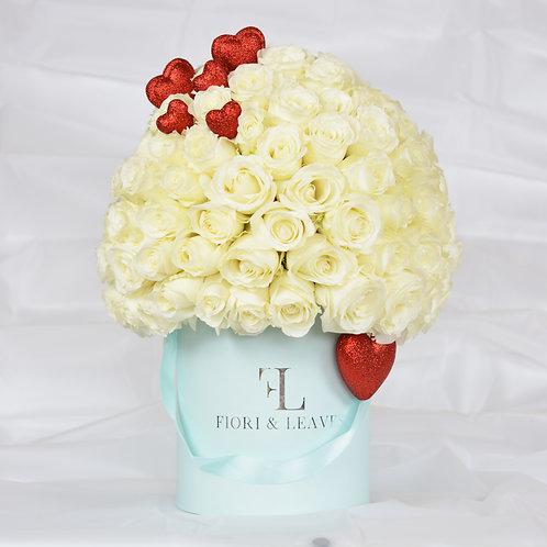 Full Dome -  White Roses - Love