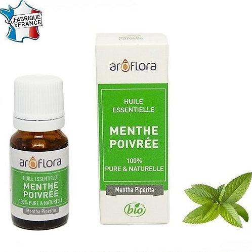 Huile essentielle BIO de Menthe poivrée 10ml, 100% pure et naturelle