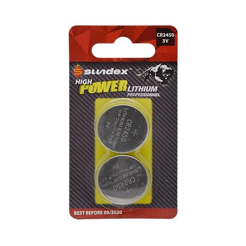 2 piles lithium CR2450 Sundex