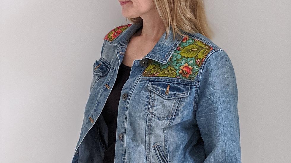 Upcycled denim Jacket size 12 UK SOLD