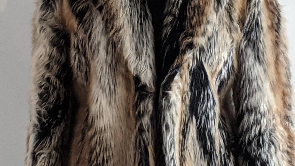 Faux fur jacket size 12 /14
