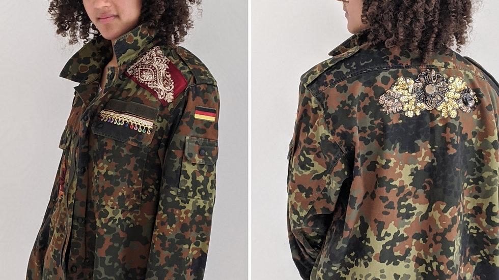 SOLD Reworked  oversized Camo jacket size 16