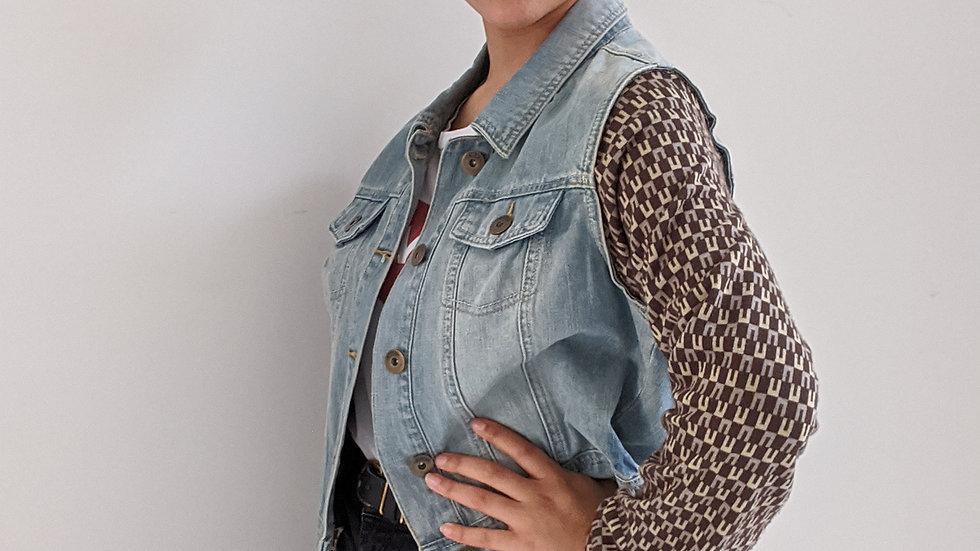 Upcycled denim jacket size 12-14