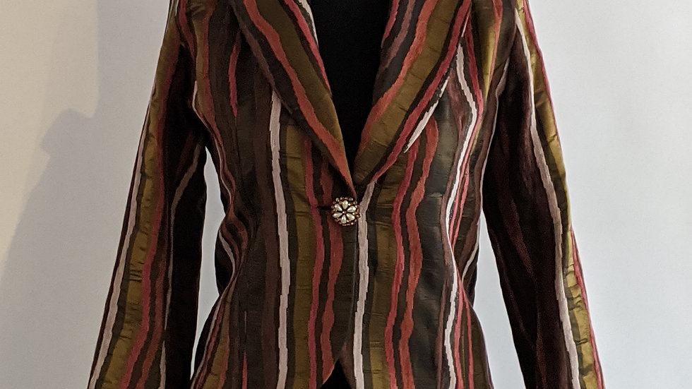 Stunning striped jacket size 12