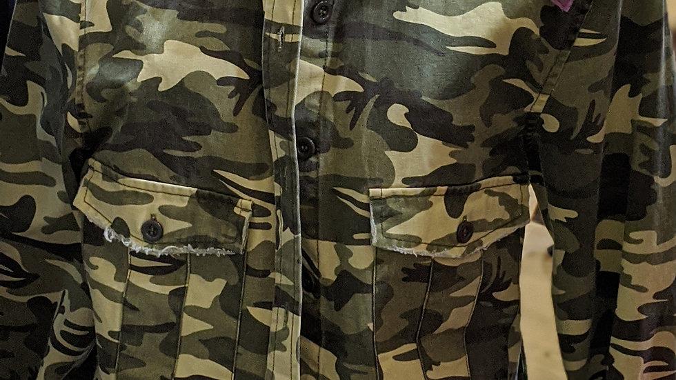 Camo reworked jacket size 12
