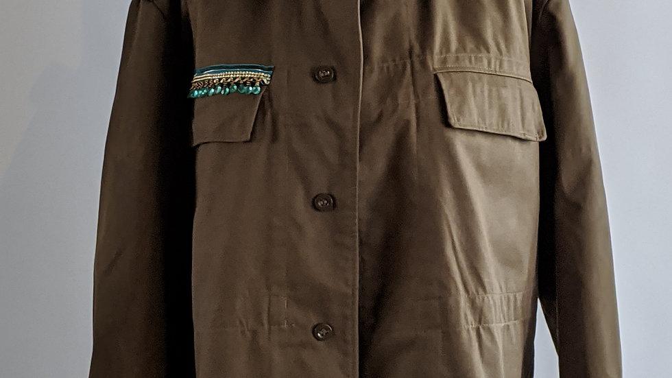 Camo jacket oversized /size 16to18