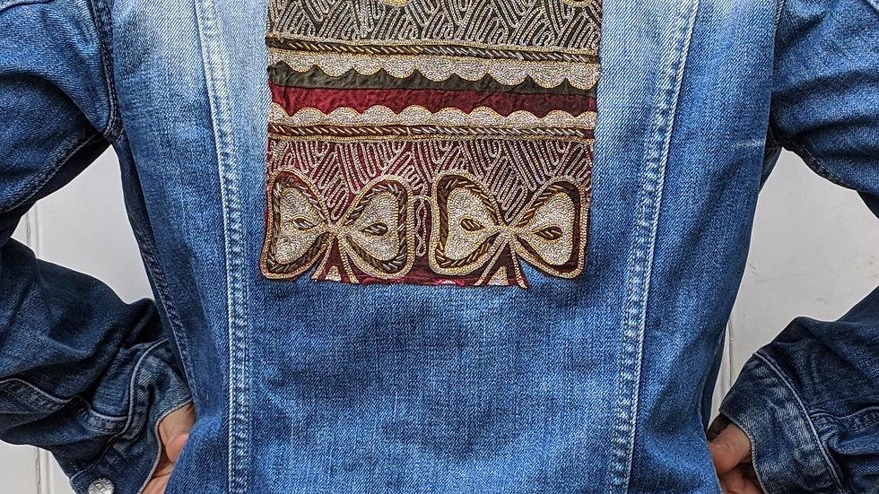 SOLD Stunning Diesel denim jacket 14  with beautiful beaded  embellishments