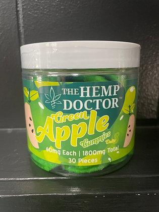 The Hemp Doctor Green Apple 60mg Gummies
