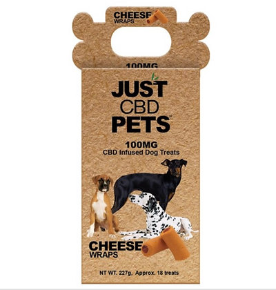 Just CBD Pet Dog Treats Cheese