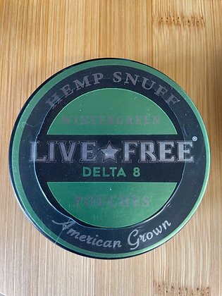 Live Free Delta 8 Hemp Snuff  Pouches