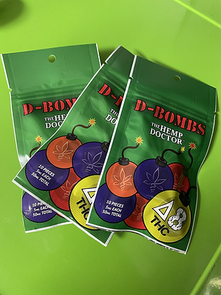 Delta 8 THC D- Bombs  Chewy Candy