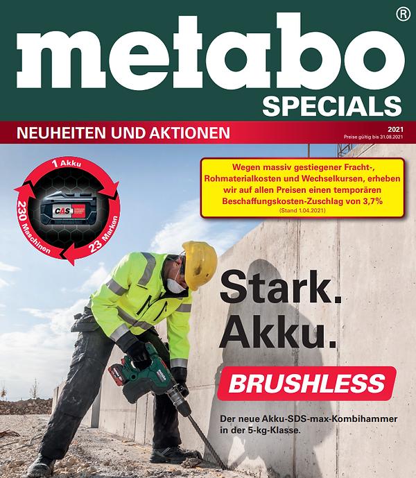 Metabo Specials Neuheiten und Aktionen 2