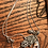 Thumbnail: Handmade Silver Plated Sliced Agate Charm Necklace
