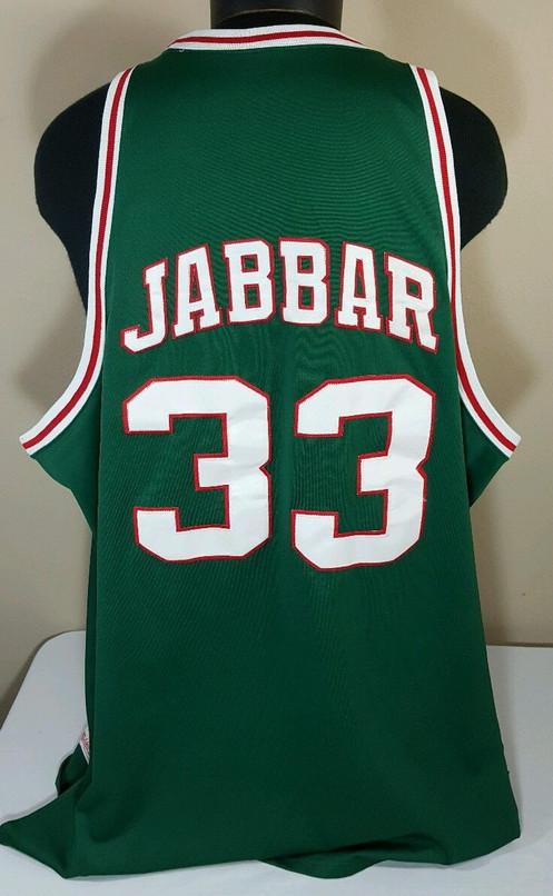 promo code 29b5c 79548 Mitchell & Ness Milwaukee Bucks Kareem Abdul Jabbar NBA Basketball