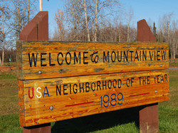 Welcome To Mountain View Sign