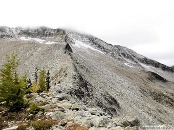 The rest of the ridge we didn't climb