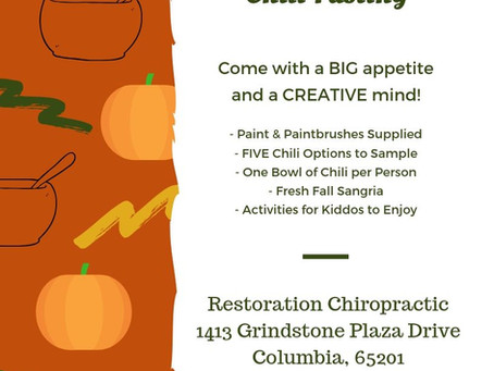 Pumpkin Painting & Chili Tasting @Restoration Chiropractic, Columbia, MO