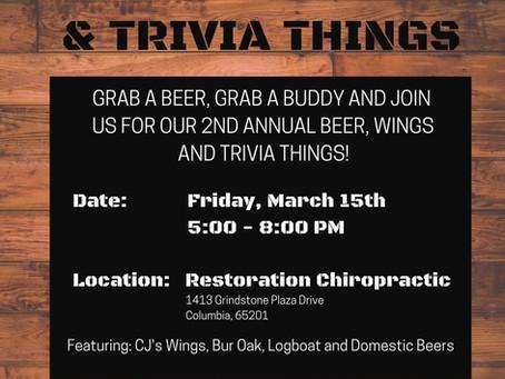 2nd Annual Beer, Wings & Trivia Things!!!