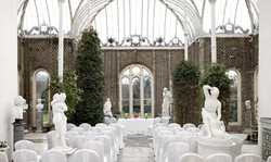 Orangery Set up for Wedding Chairs