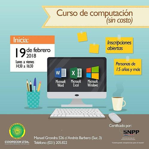 Curso de Computación para jóvenes mayores de 15 años.
