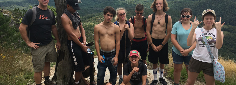 Linville Gorge hike.  Experiential Seminar activity.