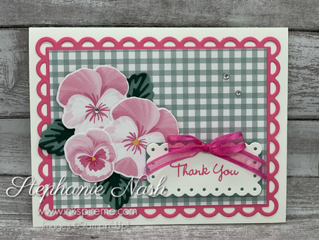 Pansy Paper Card