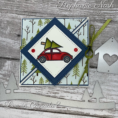 Coming Home Square Fold Christmas Card
