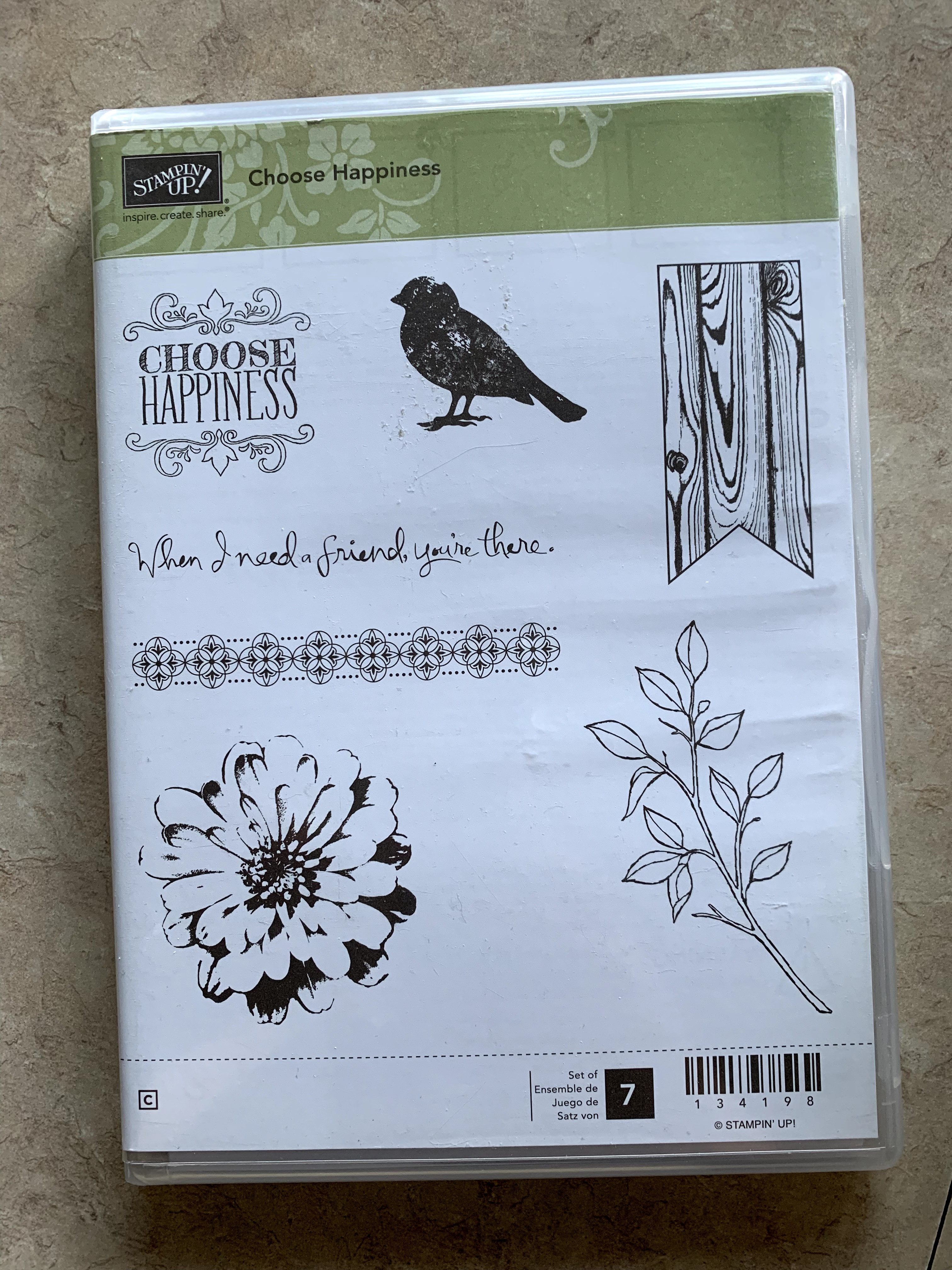 Stampin' Up! Choose Happiness clear mount stamp set