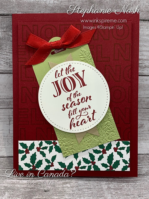 Joy of the Season Tag Card
