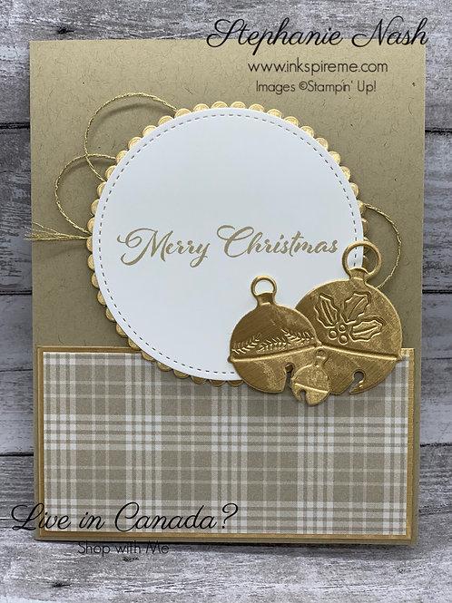 Brushed Metallic Christmas card