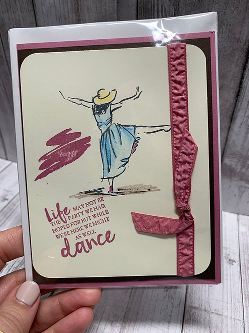 Brown & Pink Dancer card