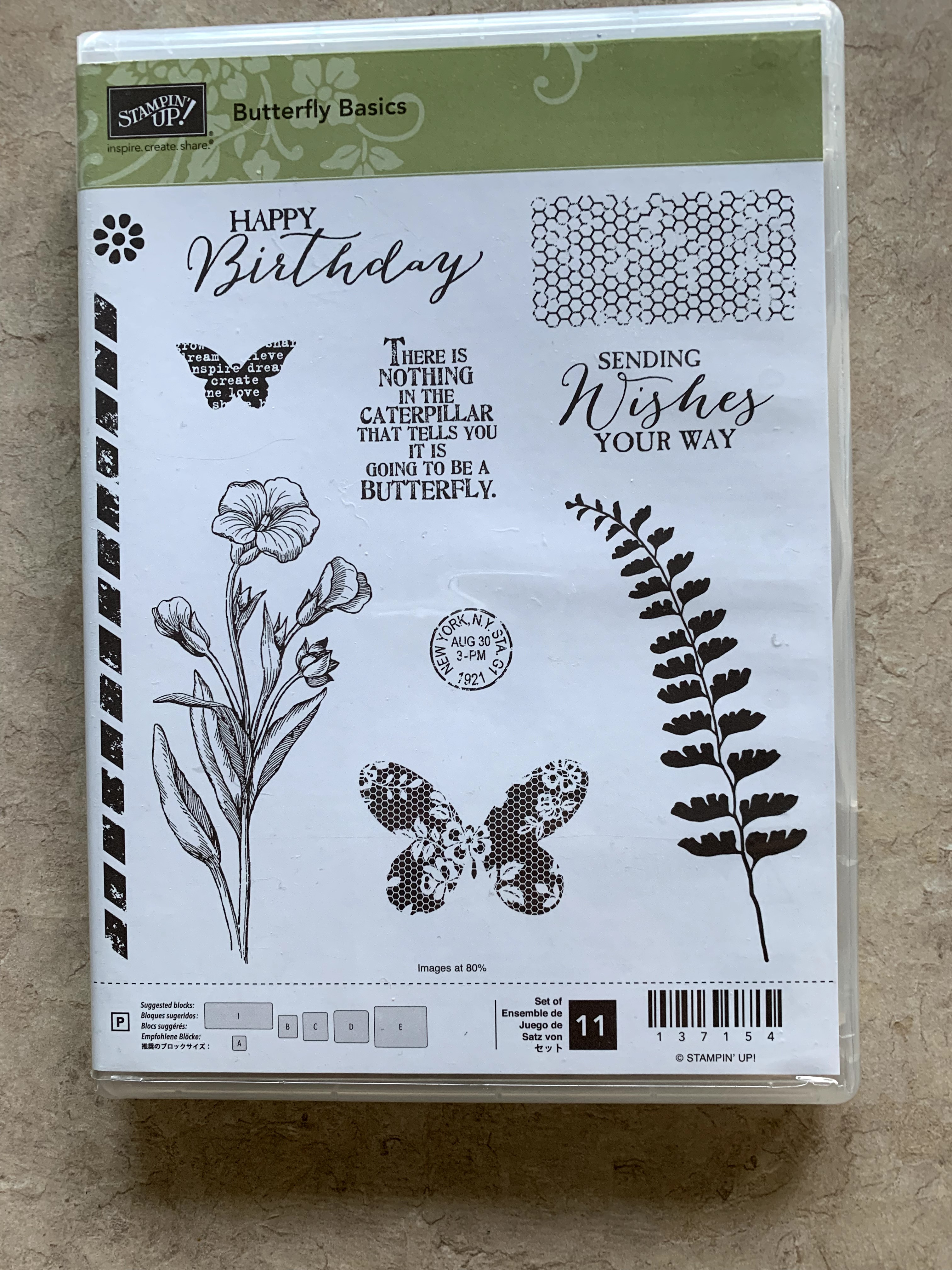 Stampin' Up! Butterfly Basics photopolymer stamp set