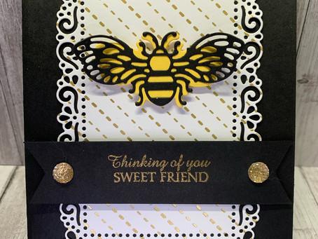 Card:  Ornate Honey Bees