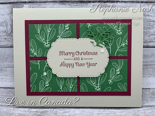 Window Pane Christmas card