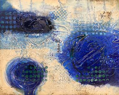 TracyKayFelix_Pools of Water_Encaustic with Resin_16x20x1.5_$1,100.00.jpg
