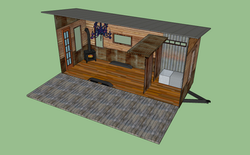 Inside Geaux Tiny Home