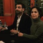 """Le cinéaste David Teboul et Sara Yalda à l'issue de la soirée en hommage à Simone Veil, """"L'Aube à Birkenau"""""""