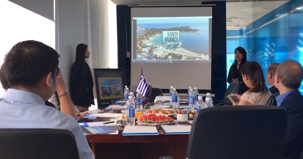 Ms. Nguyen Le Van Hillary, GM Vietnam of V² Development introduces Santa Monica Residences in Gliffada, Athens