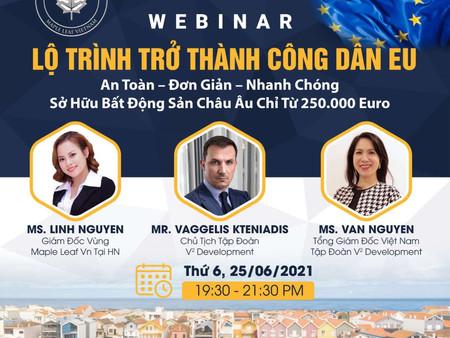 """"""" Lộ trình trở thành công dân EU"""" - hội thảo đầu tư định cư sắp được tổ chức bởi Maple Leaf Vietnam."""