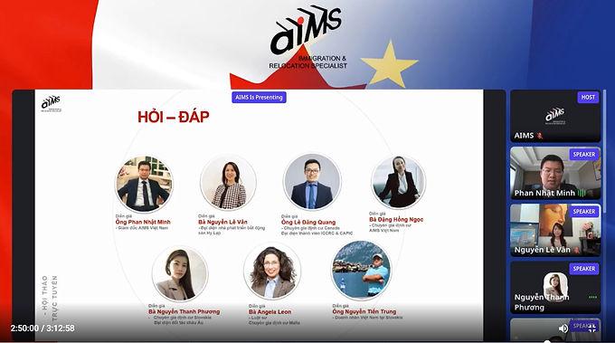 Định cư châu Âu thu hút nhà đầu tư Việt tại Hội thảo trực tuyến của AIMS Việt Nam