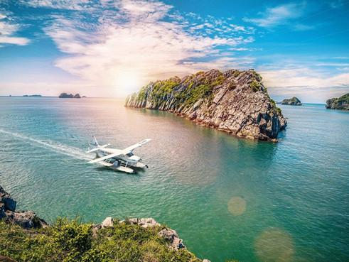 Ngắm nhìn kỳ quan thế giới - Vịnh Hạ Long từ trên không với thủy phi cơ